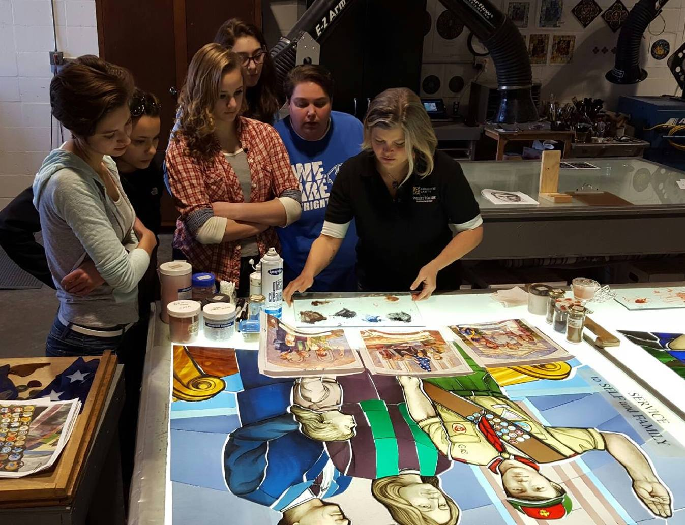 Melissa Janda gives a tour of the Art Department