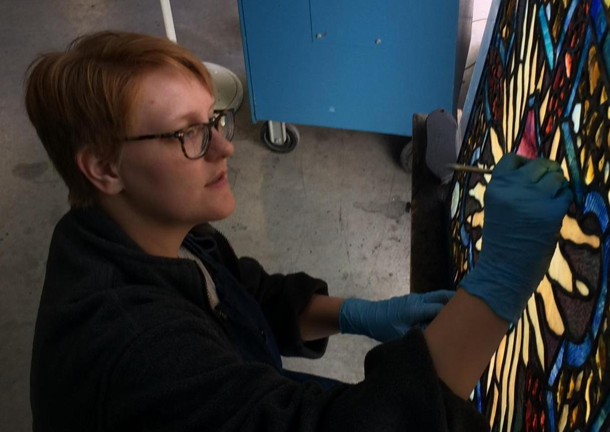 Picking Stained Glass on a Light Table