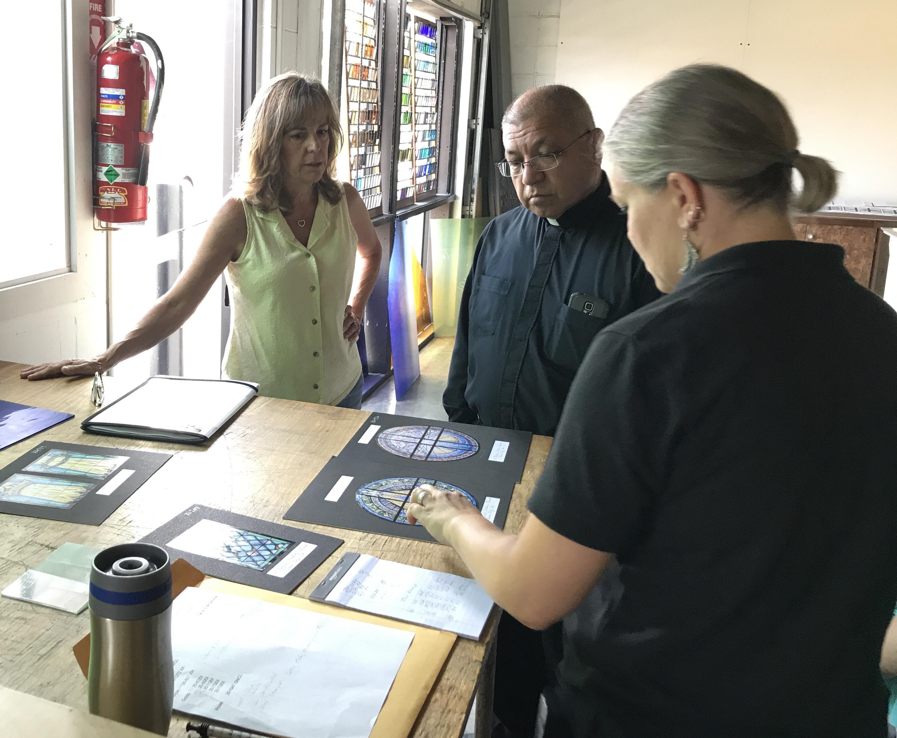 Kathy Jordan and Melissa Janda giving a color review