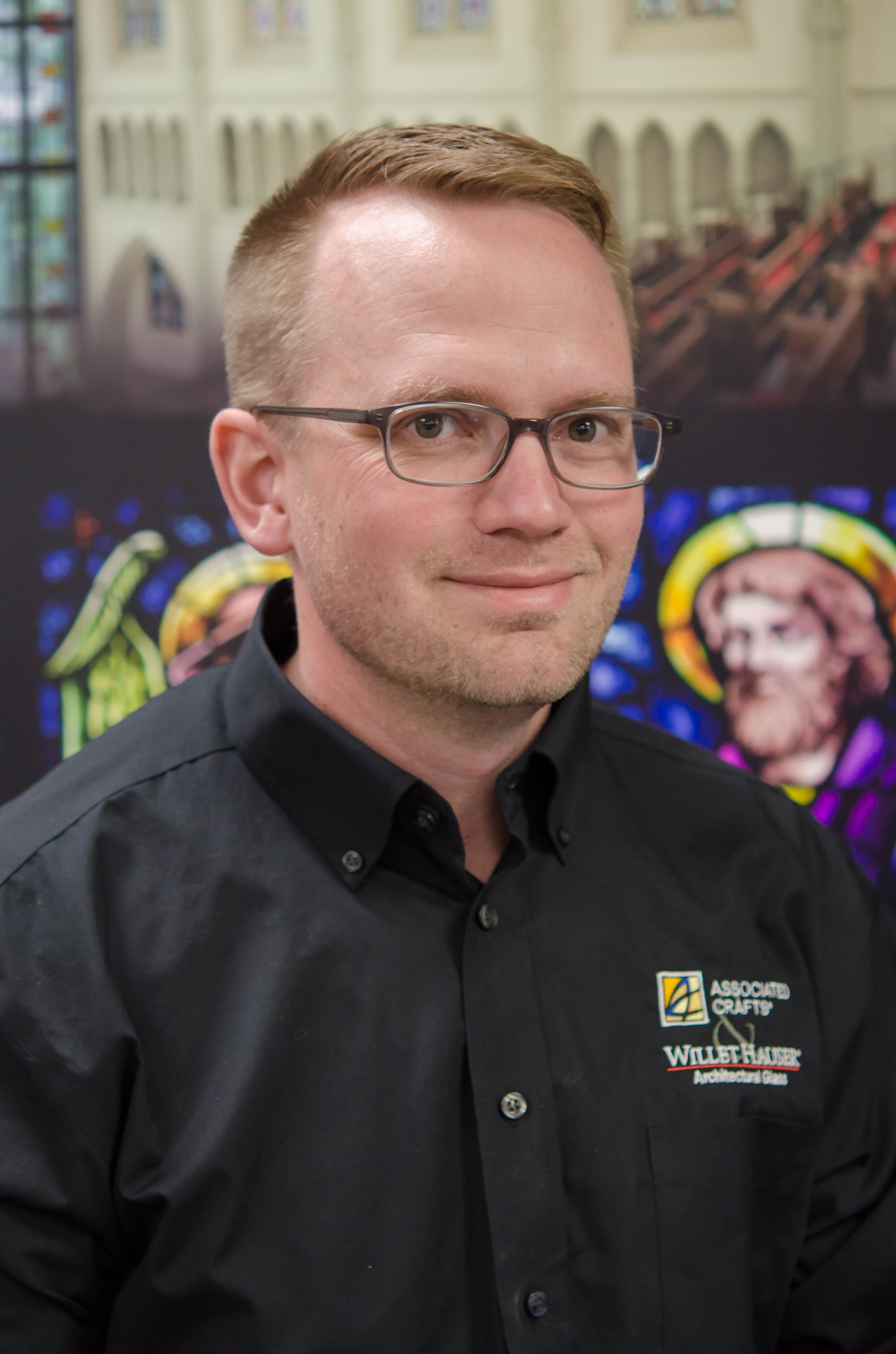 Garrick Holey, Stained Glass Artist And Overseer Of Studio Operations At Willet Hauser