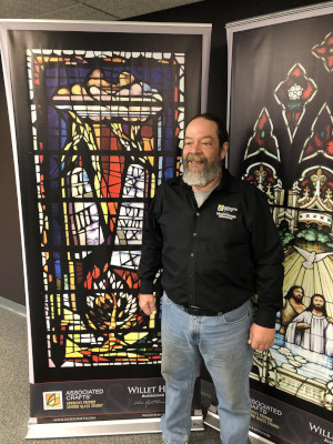 Greg Bayless, Stained Glass Craftsman Who Performs Restoration And Installation At Willet Hauser
