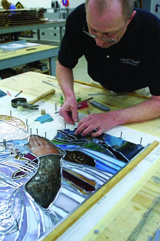 Greg working on Lakeside Presbyterian restoratiion